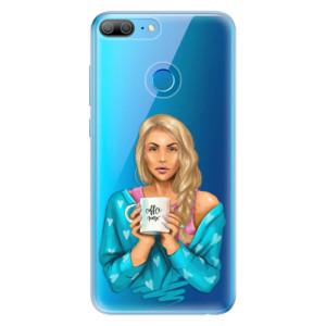 Odolné silikonové pouzdro iSaprio - Coffe Now - Blond na mobil Honor 9 Lite
