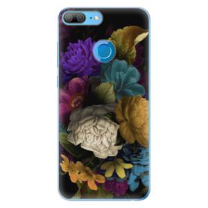 Odolné silikonové pouzdro iSaprio - Dark Flowers na mobil Honor 9 Lite