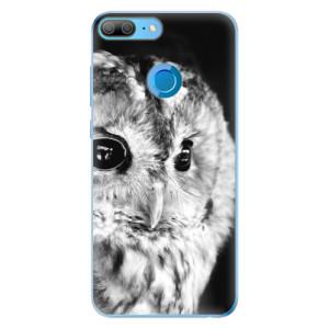 Odolné silikonové pouzdro iSaprio - BW Owl na mobil Honor 9 Lite