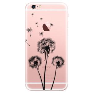 Odolné silikonové pouzdro iSaprio - Three Dandelions - black na mobil Apple iPhone 6 Plus / 6S Plus