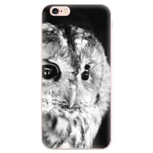 Odolné silikonové pouzdro iSaprio - BW Owl na mobil Apple iPhone 6 Plus / 6S Plus
