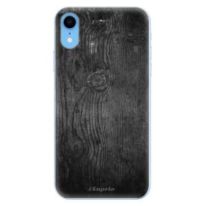Odolné silikonové pouzdro iSaprio - Black Wood 13 na mobil Apple iPhone XR