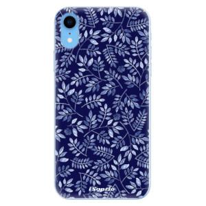 Odolné silikonové pouzdro iSaprio - Blue Leaves 05 na mobil Apple iPhone XR