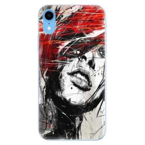 Odolné silikonové pouzdro iSaprio - Sketch Face na mobil Apple iPhone XR - poslední kus za tuto cenu