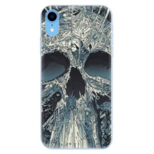 Odolné silikonové pouzdro iSaprio - Abstract Skull na mobil Apple iPhone XR