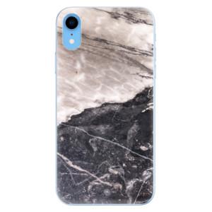 Odolné silikonové pouzdro iSaprio - BW Marble na mobil Apple iPhone XR