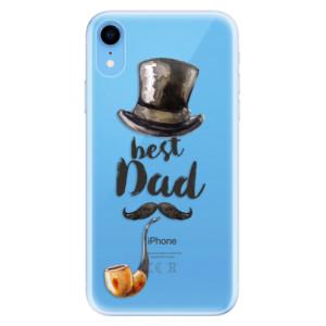 Odolné silikonové pouzdro iSaprio - Best Dad na mobil Apple iPhone XR