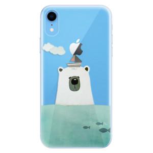 Odolné silikonové pouzdro iSaprio - Bear With Boat na mobil Apple iPhone XR