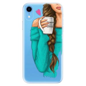 Odolné silikonové pouzdro iSaprio - My Coffe and Brunette Girl na mobil Apple iPhone XR