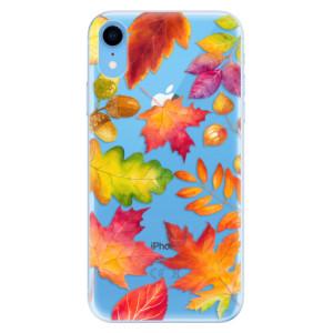 Odolné silikonové pouzdro iSaprio - Autumn Leaves 01 na mobil Apple iPhone XR