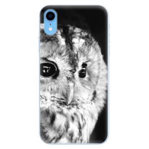 Odolné silikonové pouzdro iSaprio - BW Owl na mobil Apple iPhone XR