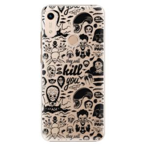 Plastové pouzdro iSaprio - Comics 01 - black na mobil Honor 8A