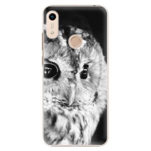 Plastové pouzdro iSaprio - BW Owl na mobil Honor 8A
