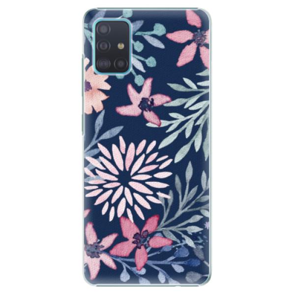 Plastové pouzdro iSaprio - Leaves on Blue - Samsung Galaxy A51