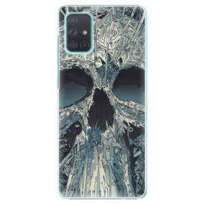 Plastové pouzdro iSaprio - Abstract Skull na mobil Samsung Galaxy A71