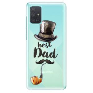 Plastové pouzdro iSaprio - Best Dad na mobil Samsung Galaxy A71