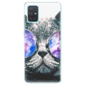 Plastové pouzdro iSaprio - Galaxy Cat na mobil Samsung Galaxy A71 - poslední kus za tuto cenu