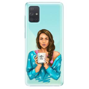 Plastové pouzdro iSaprio - Coffe Now - Brunette na mobil Samsung Galaxy A71
