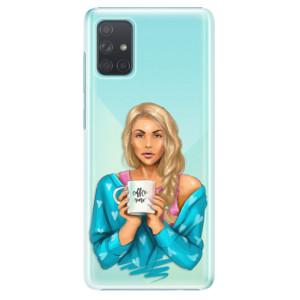 Plastové pouzdro iSaprio - Coffe Now - Blond na mobil Samsung Galaxy A71