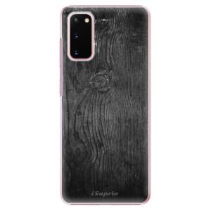 Plastové pouzdro iSaprio - Black Wood 13 na mobil Samsung Galaxy S20