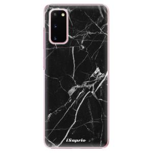 Plastové pouzdro iSaprio - Black Marble 18 na mobil Samsung Galaxy S20