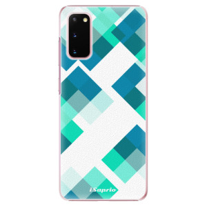 Plastové pouzdro iSaprio - Abstract Squares 11 na mobil Samsung Galaxy S20