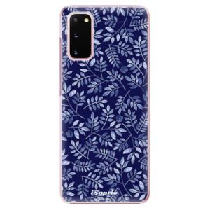 Plastové pouzdro iSaprio - Blue Leaves 05 na mobil Samsung Galaxy S20