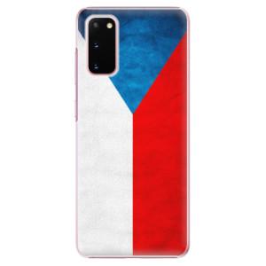 Plastové pouzdro iSaprio - Czech Flag na mobil Samsung Galaxy S20