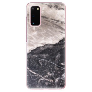 Plastové pouzdro iSaprio - BW Marble na mobil Samsung Galaxy S20