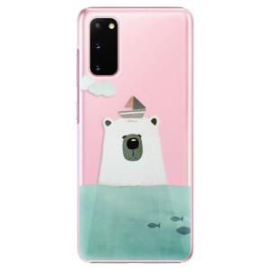 Plastové pouzdro iSaprio - Bear With Boat na mobil Samsung Galaxy S20