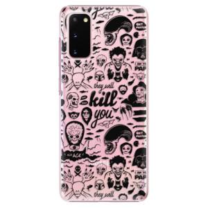 Plastové pouzdro iSaprio - Comics 01 - black na mobil Samsung Galaxy S20
