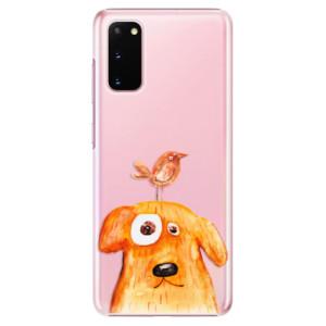 Plastové pouzdro iSaprio - Dog And Bird na mobil Samsung Galaxy S20
