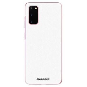 Plastové pouzdro iSaprio - 4Pure - bílé na mobil Samsung Galaxy S20