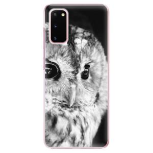 Plastové pouzdro iSaprio - BW Owl na mobil Samsung Galaxy S20