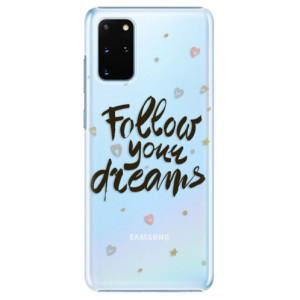 Plastové pouzdro iSaprio - Follow Your Dreams - black na mobil Samsung Galaxy S20 Plus