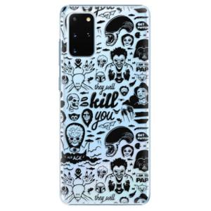 Plastové pouzdro iSaprio - Comics 01 - black na mobil Samsung Galaxy S20 Plus
