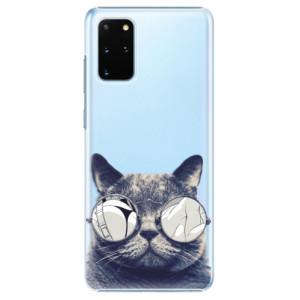 Plastové pouzdro iSaprio - Crazy Cat 01 na mobil Samsung Galaxy S20 Plus