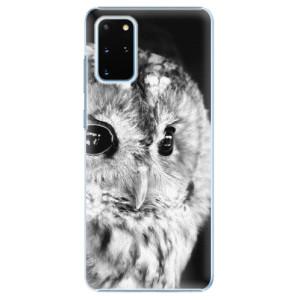 Plastové pouzdro iSaprio - BW Owl na mobil Samsung Galaxy S20 Plus