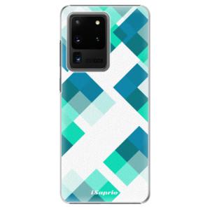 Plastové pouzdro iSaprio - Abstract Squares 11 na mobil Samsung Galaxy S20 Ultra