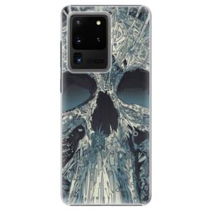 Plastové pouzdro iSaprio - Abstract Skull na mobil Samsung Galaxy S20 Ultra