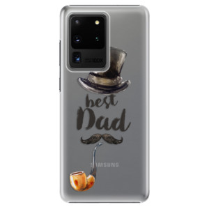 Plastové pouzdro iSaprio - Best Dad na mobil Samsung Galaxy S20 Ultra