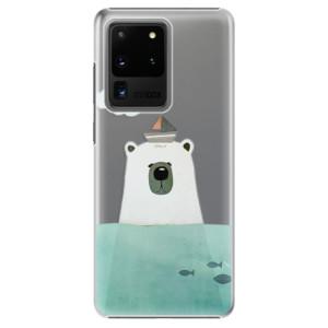 Plastové pouzdro iSaprio - Bear With Boat na mobil Samsung Galaxy S20 Ultra