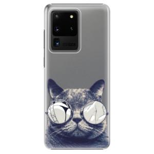 Plastové pouzdro iSaprio - Crazy Cat 01 na mobil Samsung Galaxy S20 Ultra