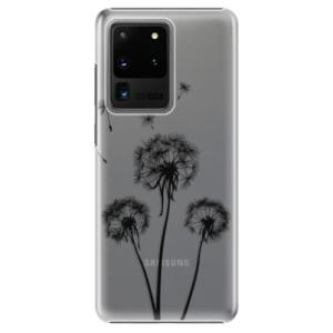 Plastové pouzdro iSaprio - Three Dandelions - black na mobil Samsung Galaxy S20 Ultra