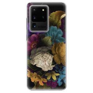 Plastové pouzdro iSaprio - Dark Flowers na mobil Samsung Galaxy S20 Ultra
