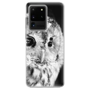 Plastové pouzdro iSaprio - BW Owl na mobil Samsung Galaxy S20 Ultra