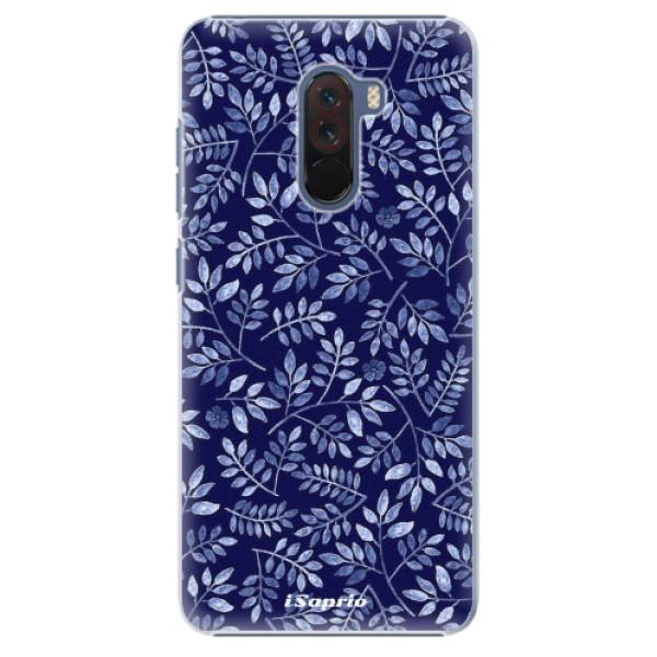 Plastové pouzdro iSaprio - Blue Leaves 05 - Xiaomi Pocophone F1