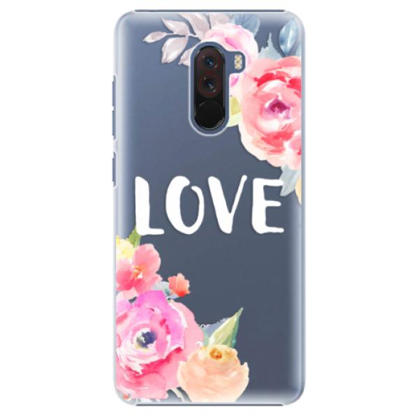 Plastové pouzdro iSaprio - Love - Xiaomi Pocophone F1