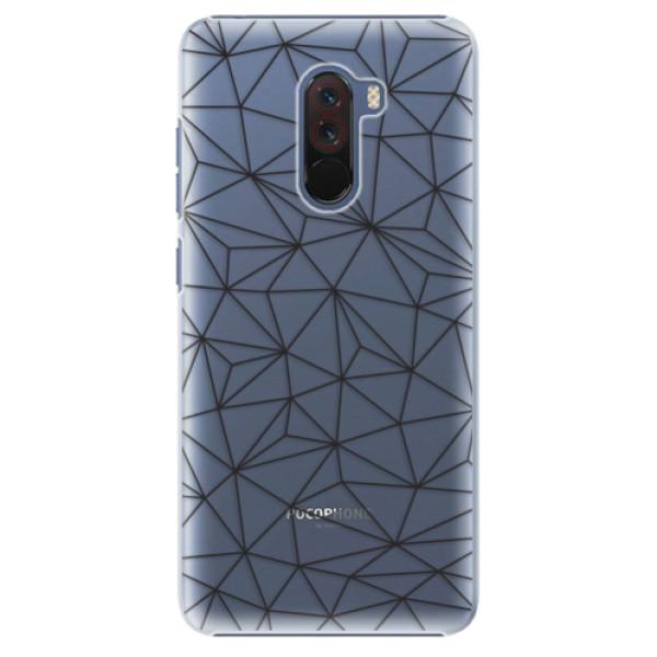 Plastové pouzdro iSaprio - Abstract Triangles 03 - black - Xiaomi Pocophone F1