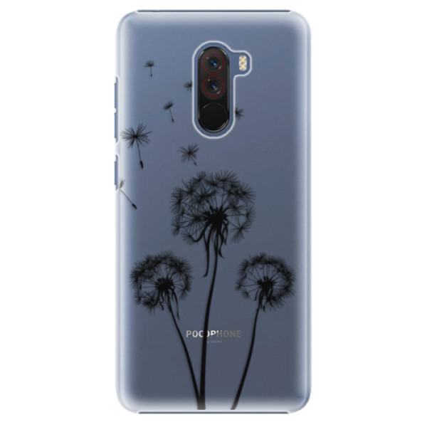Plastové pouzdro iSaprio - Three Dandelions - black - Xiaomi Pocophone F1